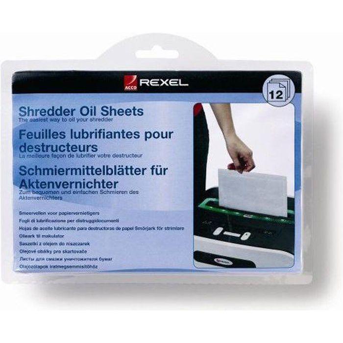 REXEL - Feuille lubrifiante pour destructeur de…