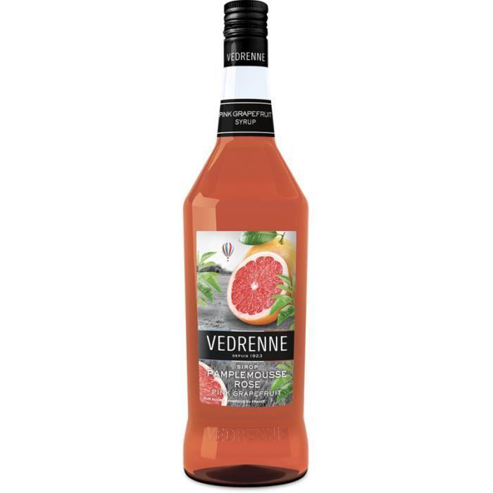 Sirop de Pamplemousse Rose VEDRENNE - 100cl - Acidulé et parfumé