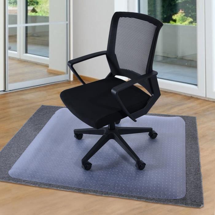 Tapis de chaise rectangulaire tapis Housse de protection sol transparente Clouté Bas Bureau à domicile-JIY