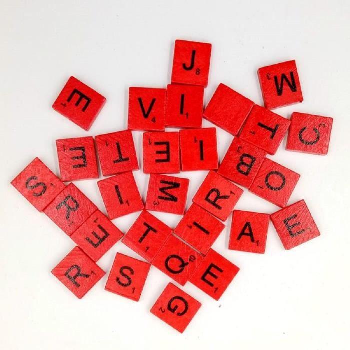 200pcs Anglais Lettres En Bois A Z Enfants Qui Apprennent