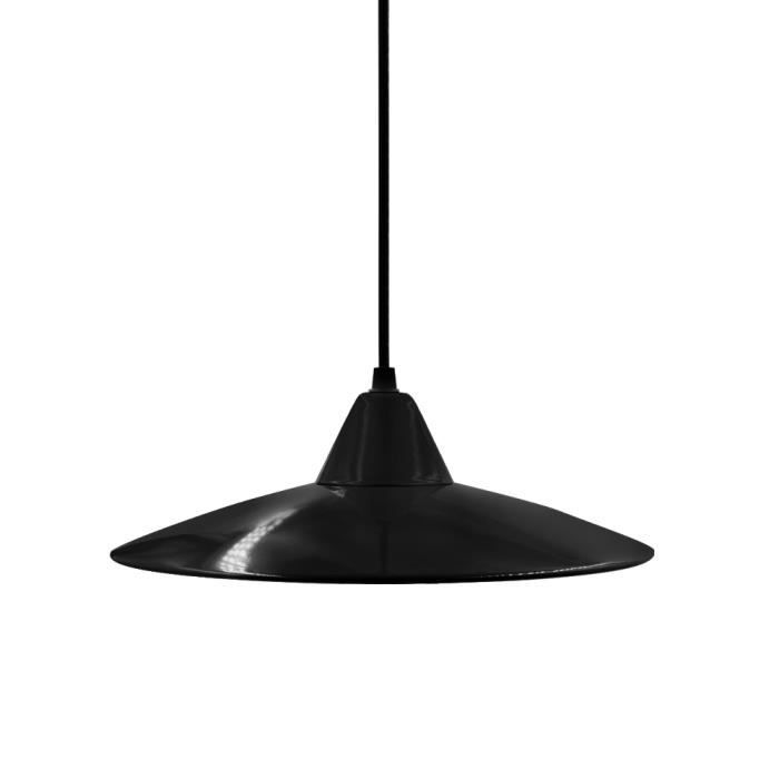 abat jour suspension noir m tal lampe suspension luminaire cuisine classique retro moderne lampe. Black Bedroom Furniture Sets. Home Design Ideas