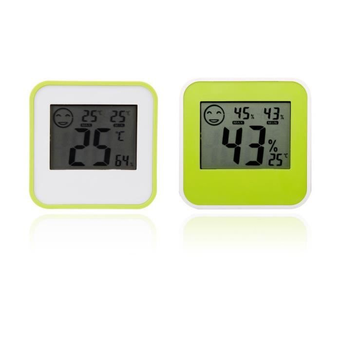 Thermom tre digital lcd hygrom tre humidit temp rature int rieure compteur - Temperature interieure maison ...