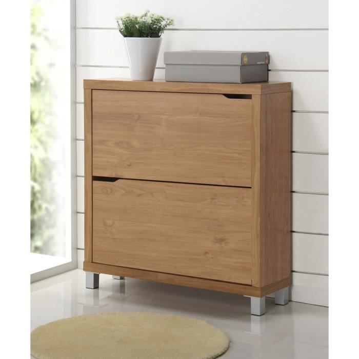 moderne placard chaussures kubox encherry avec 2 portes du 38 mm bois creux et 15 mm l. Black Bedroom Furniture Sets. Home Design Ideas