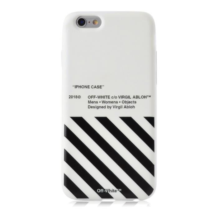 coque iphone 7 8 off white blanc coque compatible