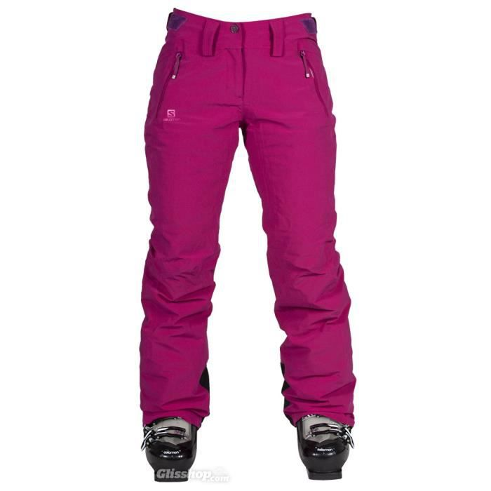 pantalon de ski femme salomon ic fushia fushia achat vente short de football cdiscount. Black Bedroom Furniture Sets. Home Design Ideas