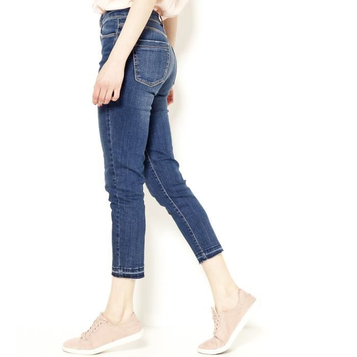 Camaieu Cropped Femme Haute Dany Taille Skinny Stone Used Sk Jean wtSEqrt