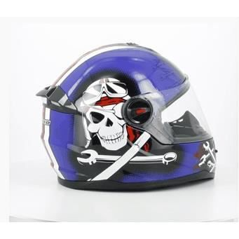 casque int grale enfant bleu pirate taille s 49 50cm achat vente casque moto scooter. Black Bedroom Furniture Sets. Home Design Ideas