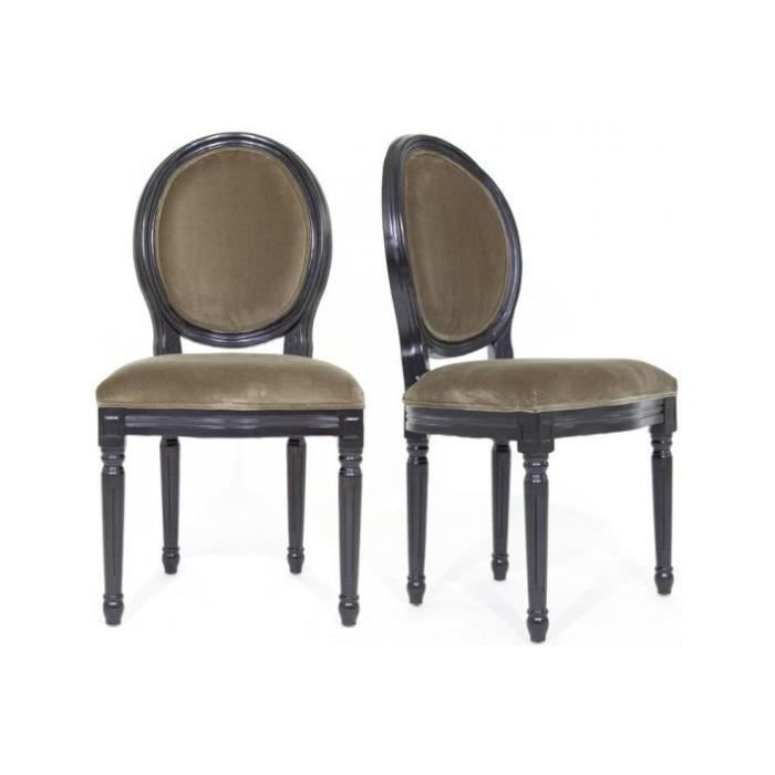 lot de 2 chaises m daillon antoinette achat vente chaise cdiscount. Black Bedroom Furniture Sets. Home Design Ideas