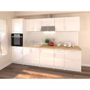 cuisine complete blanc laque achat vente pas cher. Black Bedroom Furniture Sets. Home Design Ideas