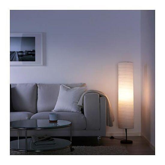 Ikea Lampadaire Papier Blanc H116 Cm
