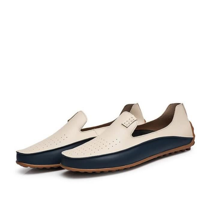 chaussures homme En Cuir De Marque De Luxe Moccasins Confortable Grande