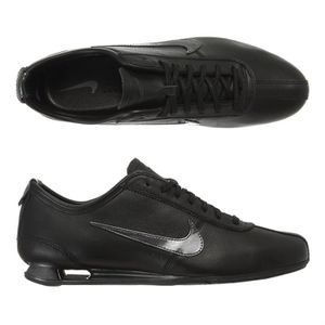 0e2a1dadb0be NIKE Baskets cuir Shox Rivalry Homme Noir et anthracite - Achat ...