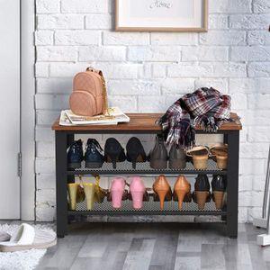 Alightup /Étag/ère /à Chaussures pour 50 Paires de Chaussures de 10 Niveaux,100 x 28 x 180 cm