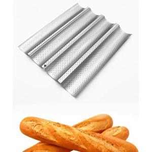 MOULE  Plaque de Cuisson Moule à 4 Baguettes Anti-Adhésif