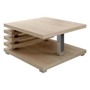 TABLE BASSE Table Basse Oslo 60x60cm Chêne Clair