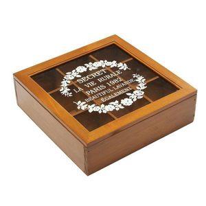 Orange Blossom-rétro//Vintage Style carré couvercle à charnière 200 g Boîte à thé//...