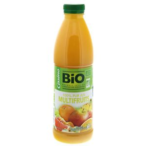 CASINO BIO 100% pur jus - Multifruits - Bouteille