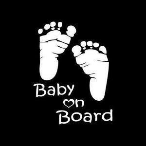 DÉRIVE CHAINE Autocollant de voiture pour bébé à bord d'une voit