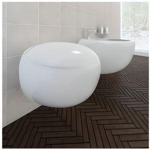 BIDET WC suspendu et bidet en céramique blanc
