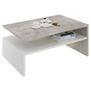 TABLE BASSE Table basse de salon ADELAIDE rectangulaire avec r