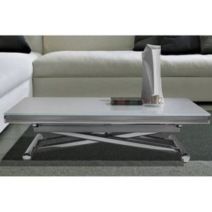 TABLE BASSE Table basse relevable extensible HAPPENING blanc a