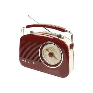 RADIO CD CASSETTE Radio AM/FM design rétro marron