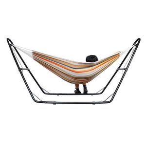 HAMAC Hamac, Lit Suspendu, Beige-Brun-Orange, Avec suppo