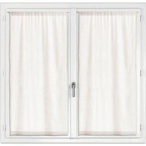 RIDEAU 2 rideaux voile Touch ecru 60 x 160 cm Les Atelier