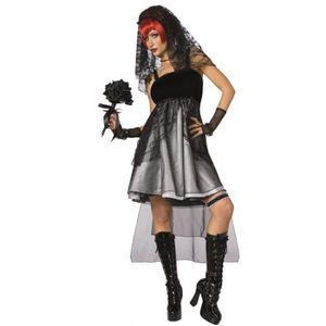 Chers jour des morts Mariée Halloween Fancy Dress Costume Outfit plus taille