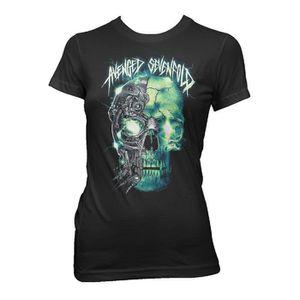 T-SHIRT Ladies Avenged Sevenfold Skull Logo Rock Autorisé
