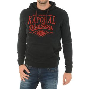 KAPORAL MIKKY SWEAT SHIRT A CAPUCHE INSCRIPTION FEUTRINE