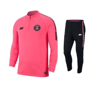TENUE DE FOOTBALL ENSEMBLE NEWS TRAINING PSG PARIS ADULTE NOIR FUCHS