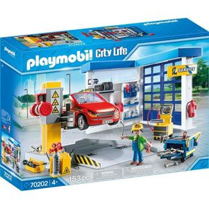 UNIVERS MINIATURE PLAYMOBIL 70202 - City Life - Garage automobile  -