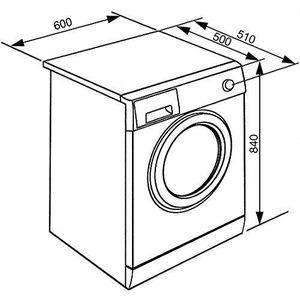 LAVE-LINGE Smeg WHT712LIT machine à laver Autonome Charge ava