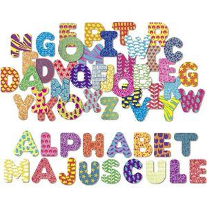 JEU D'APPRENTISSAGE VILAC - Magnets Alphabet majuscule 56 pcs