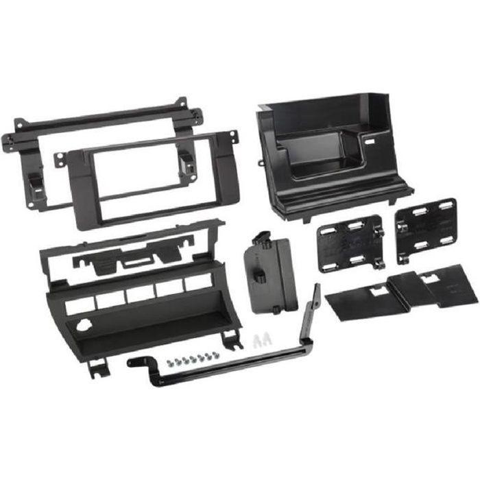 Kit 2DIN BMW serie 3 E46 - Facades autoradio et 5 boutons - Noir - ADNAuto