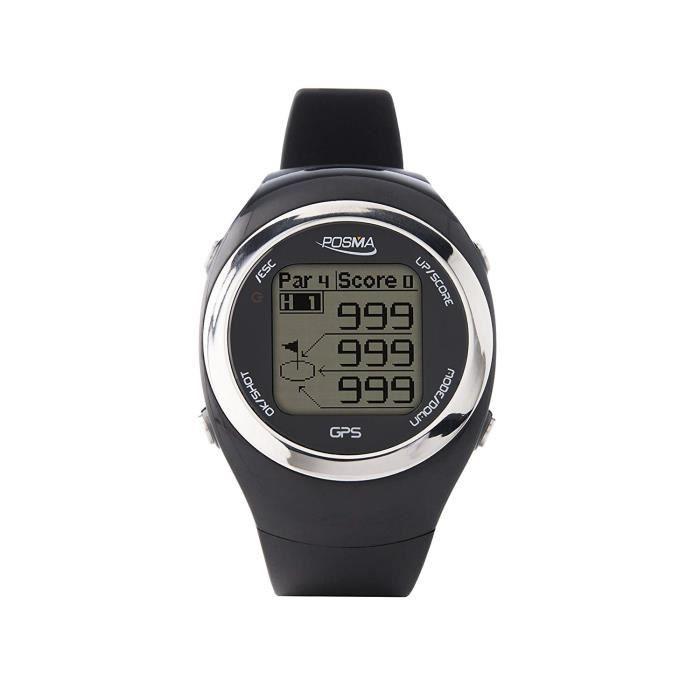POSMA GT2 GPS Montre Golf verte, Entraîneur de golf , télémètre, Cours de golf préchargés Rouge
