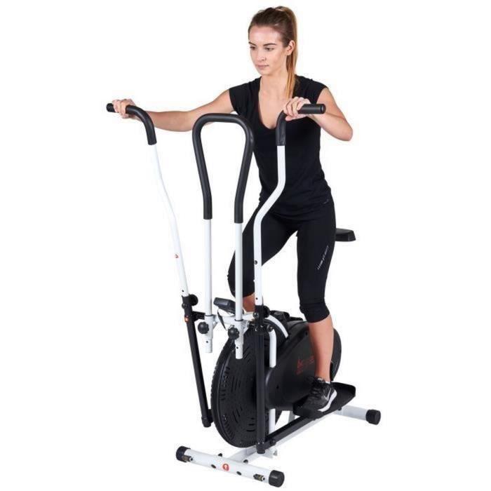 Velo elliptique assis avec selle crossfit style - Entrainement corps integral - Air cross training velo minceur anti cellulite poid