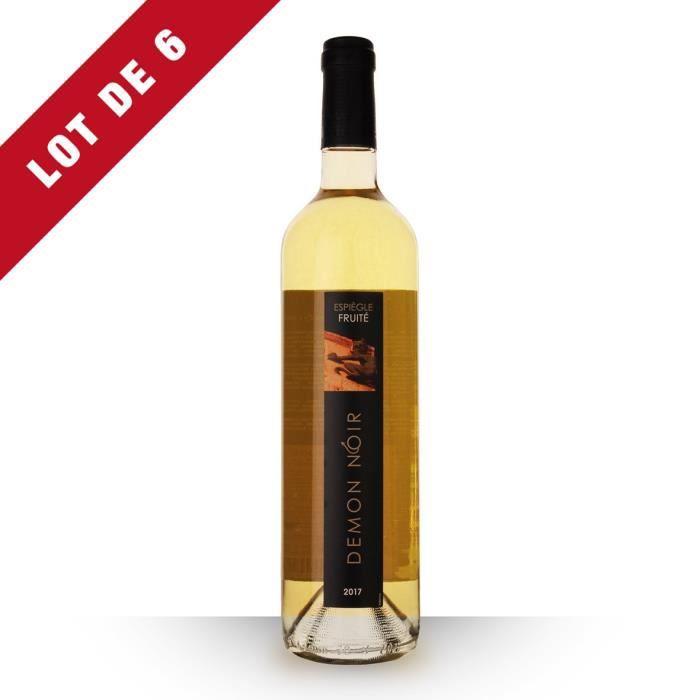 Lot de 6 - Démon Noir 2017 IGP Comté Tolosan - 6x75cl - Vin Blanc