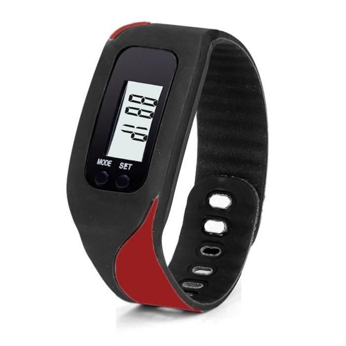 XYQ60924121RD Numérique LCD Podomètre Run Step Walking Distance compteur de calories Montre Bracelet