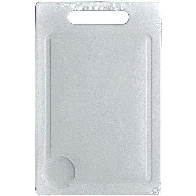 Planche à découper 29 x 19 cm - plastique - blanc