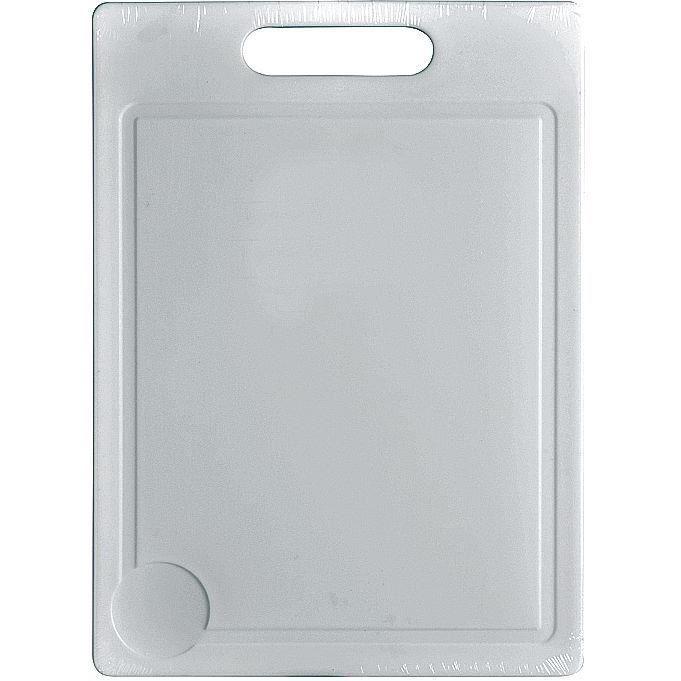 Planche à découper 35 x 25 cm - plastique - blanc