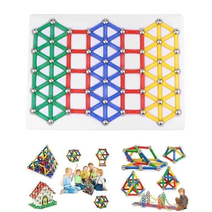 Jouets de construction magnétique Bâtons de blocs de construction Jouets empilables éducatifs pour Tout-petits Enfants Adulte Y02593