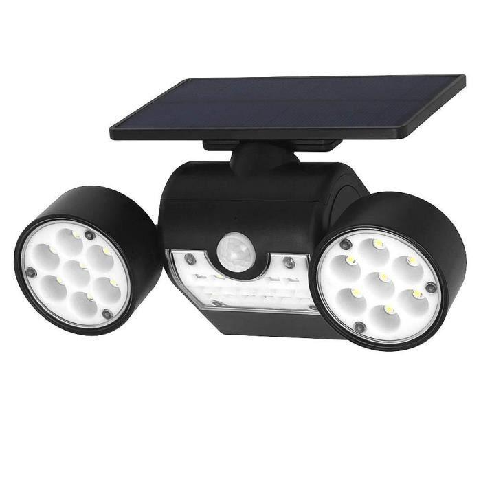 INDARUN 30 LED Lampes Solaires Extérieur Etanche IP65, Spot Solaire avec Détecteur de Mouvement, Lampe de Sécurité Applique Solaire