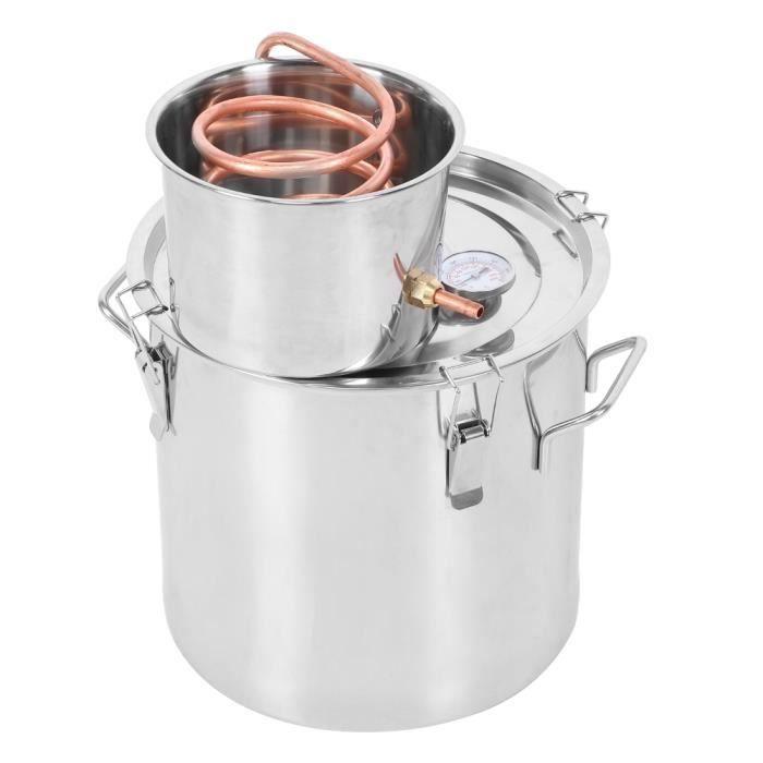 Garosa Distillateur domestique Petite machine de rosée pure d'équipement de production d'eau distillée de baril de vin de