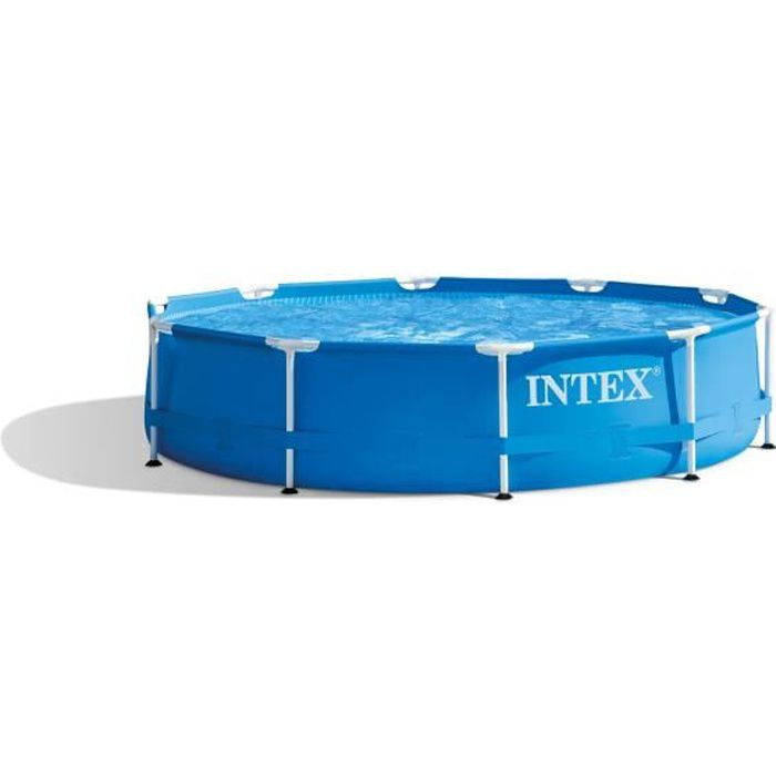 Kit piscine tubulaire INTEX Métal Frame - Rond - 304,8 x 76,2 cm