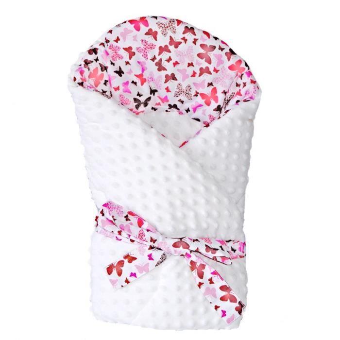 Gigoteuse d'emmaillotage minky - Butterfly Rose Dès la naissance - 3/4 mois
