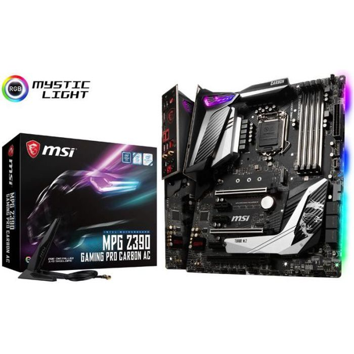 Carte mere Msi Mpg Z390 Gaming Pro Carbon Ac, Intel Z390 Sockel 1151