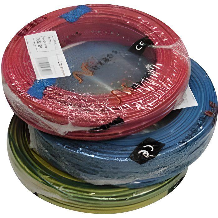 Fil éléctrique 1.5 mm2, 1 bobine 100 m, h07vu - Couleur du fil: bleu
