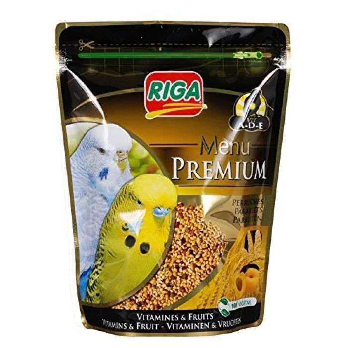 RIGA Menu Premium Perruches Vitamines et Fruits - Doypack - 800 g
